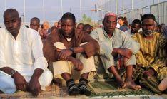 Miembros de la comunidad islámica este viernes.