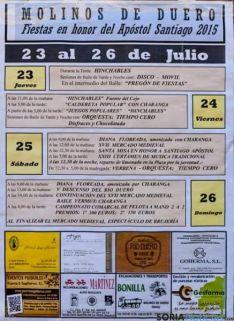 Cartel del programa de fiestas de Molinos