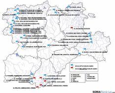 Mapa de las zonas de baño en la región. / Jta.