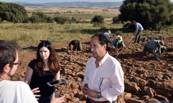 El delegado de Junta en Soria, en las excavaciones. / Jta.