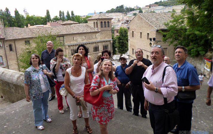El grupo de viajeros en Estella./GTSMJ