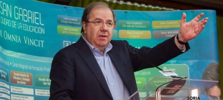 El presidente de la Junta, Juan Vicente Herrera, este viernes en Burgos. / Jta.