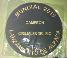 Trofeo para el ganador.