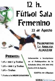 El cartel de las 12 horas de fútbol sala femenino