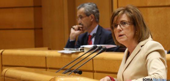 La presidenta del PP Soriano.