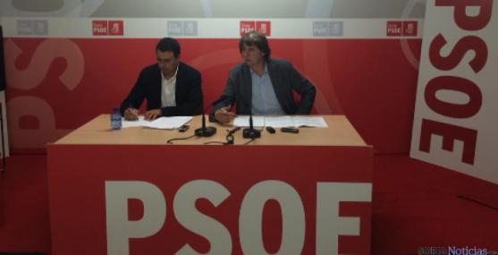 Rueda de prensa del PSOE para valorar los presupuestos. PSOE