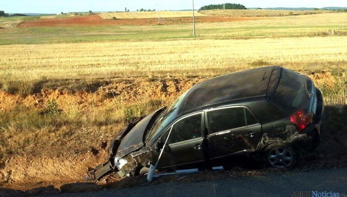 El vehículo tras el accidente. / SN