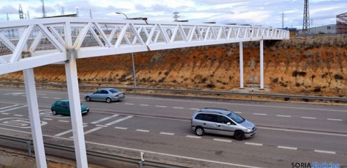 Tráfico rodado cerca de Soria capita. SN