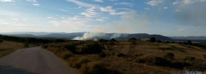 Incendio cerca de la CMA/SN
