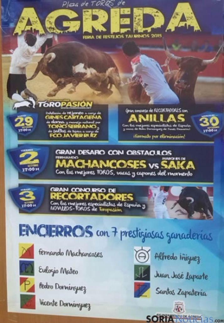 Cartel de los festejos taurinos en Ágreda