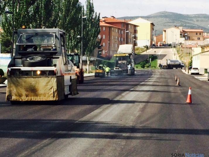 Obras de pavimentación en Olvega