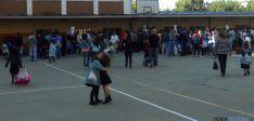 El colegio de Escolapias este miércoles. / SN