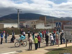 Ágreda, la última localidad soriana que despedía a los ciclistas. / SN
