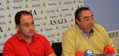 Representantes de ASAJA Soria este lunes en rueda de prensa. / SN