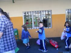 El patio de Escolapias este miércoles. / SN