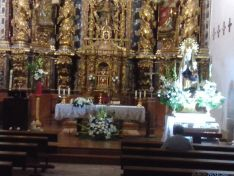Iglesia con la imagen de la Virgen de la Vega en Serón