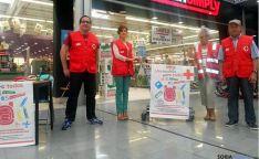 Voluntarios de Cruz Roja Soria este sábado.