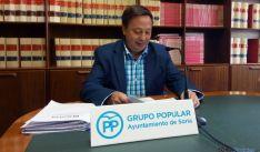 El concejal popular del PP Adolfo Sainz este lunes. / SN