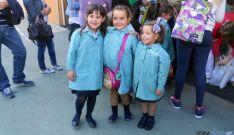 Niñas este miércoles en un colegio concertado de Soria. / SN