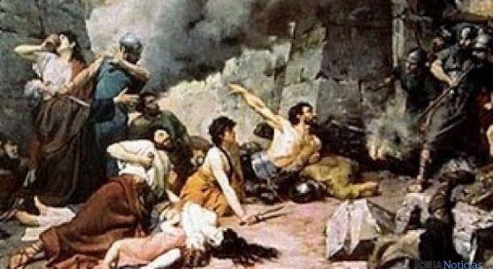 Cuadro de 'Los últimos días de Numancia' de Alejo Vera