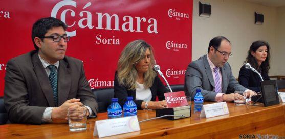 Lóepz (izda.), Lucio, Díez y Borén este miércoles en la Cámara. / SN