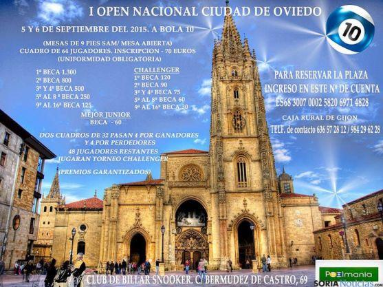 El cartel del open de Oviedo.