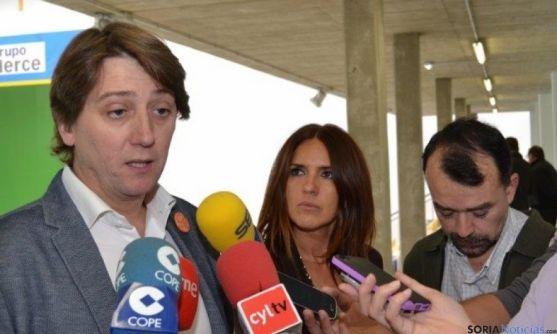 El alcalde de Soria en rueda de prensa
