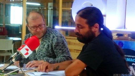 Roberto Ortega y Daniel Hernández, en la presentación.