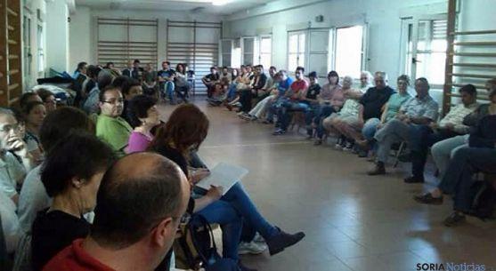 Una de las asambleas de Podemos Soria. / SN