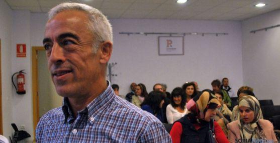 Raúl Báez, de Cruz Roja España, este martes en Soria. / SN