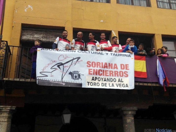 Los sorianos se dejan ver en el Toro de la Vega. / SN