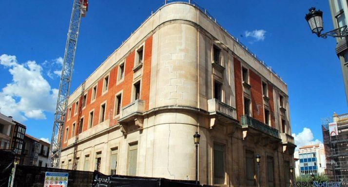 El edificio del Banco de España en la capital soriana. / SN
