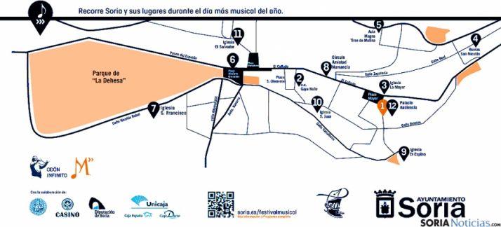 Itinerario de los conciertos./Ayto.