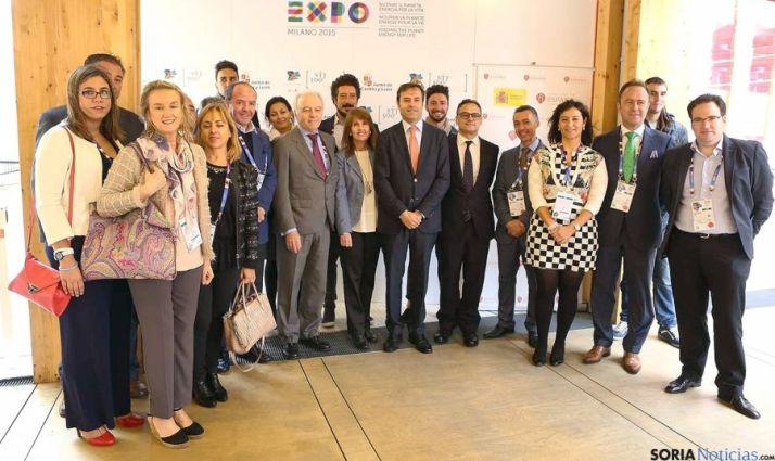 La delegación castellana y leonesa en la muestra universal italiana. / Jta.