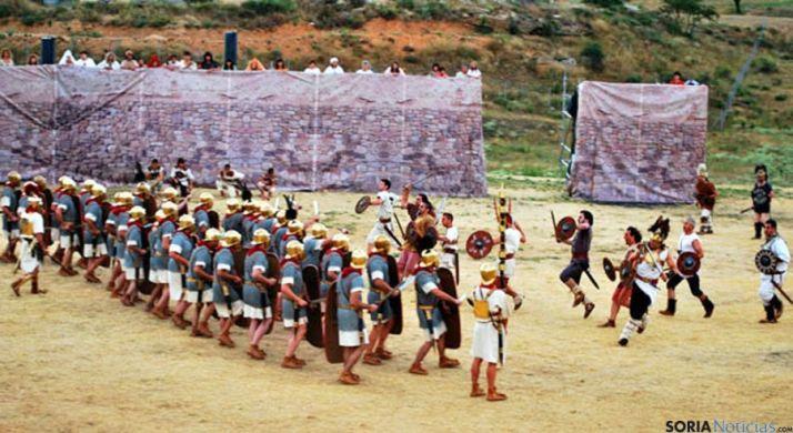 Una de las representaciones de Tierraquemada en Numancia. / SN