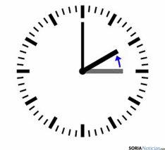 Los relojes deberán retrasarse 60 minutos.