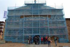 Obras en la iglesia de Santo Domingo de Soria