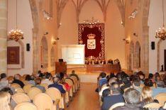 Reunión de alcaldes adminstración electrónica en Aula Magna