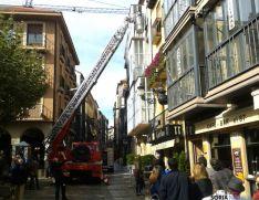 Simulacro de los bomberos este viernes./SN