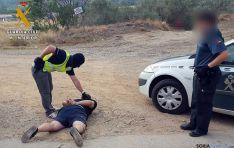 Momento de la detención de uno de los autores de la banda. / MI