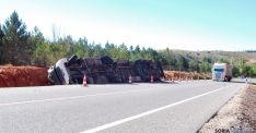 Accidente en la SO-20, una de las carreteras con tramos peligrosos. / SN