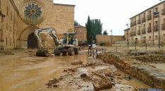 Los destrozos de la tormenta en Santa María de Huerta. / SN