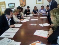 Reunión en Ólvega/Cámara de Comercio