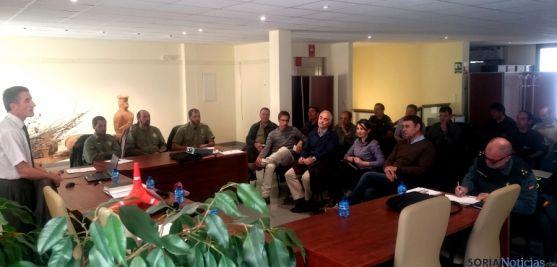 Reunión en Almarza entre distintas administraciones. / Jta.