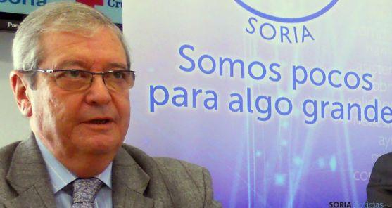 Crespo, presidente del Banco en Soria./SN