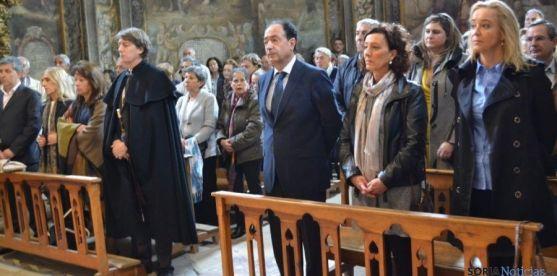 Concejales asisten a la misa de San Saturio