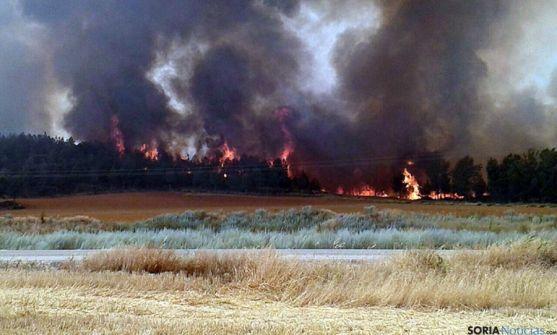 Imagen del incendio, el más grave del verano en la provincia. / SN