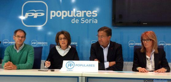 Antón (izda.), Angulo, Martínez y Moreno este jueves.