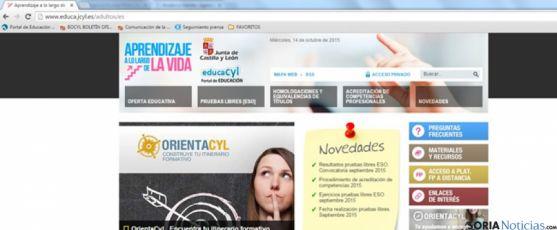 Web portal de Educación
