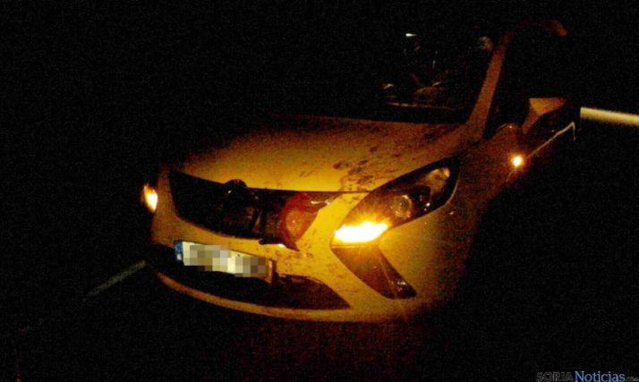 Uno de los coches involucrados./Ainalb Alomar